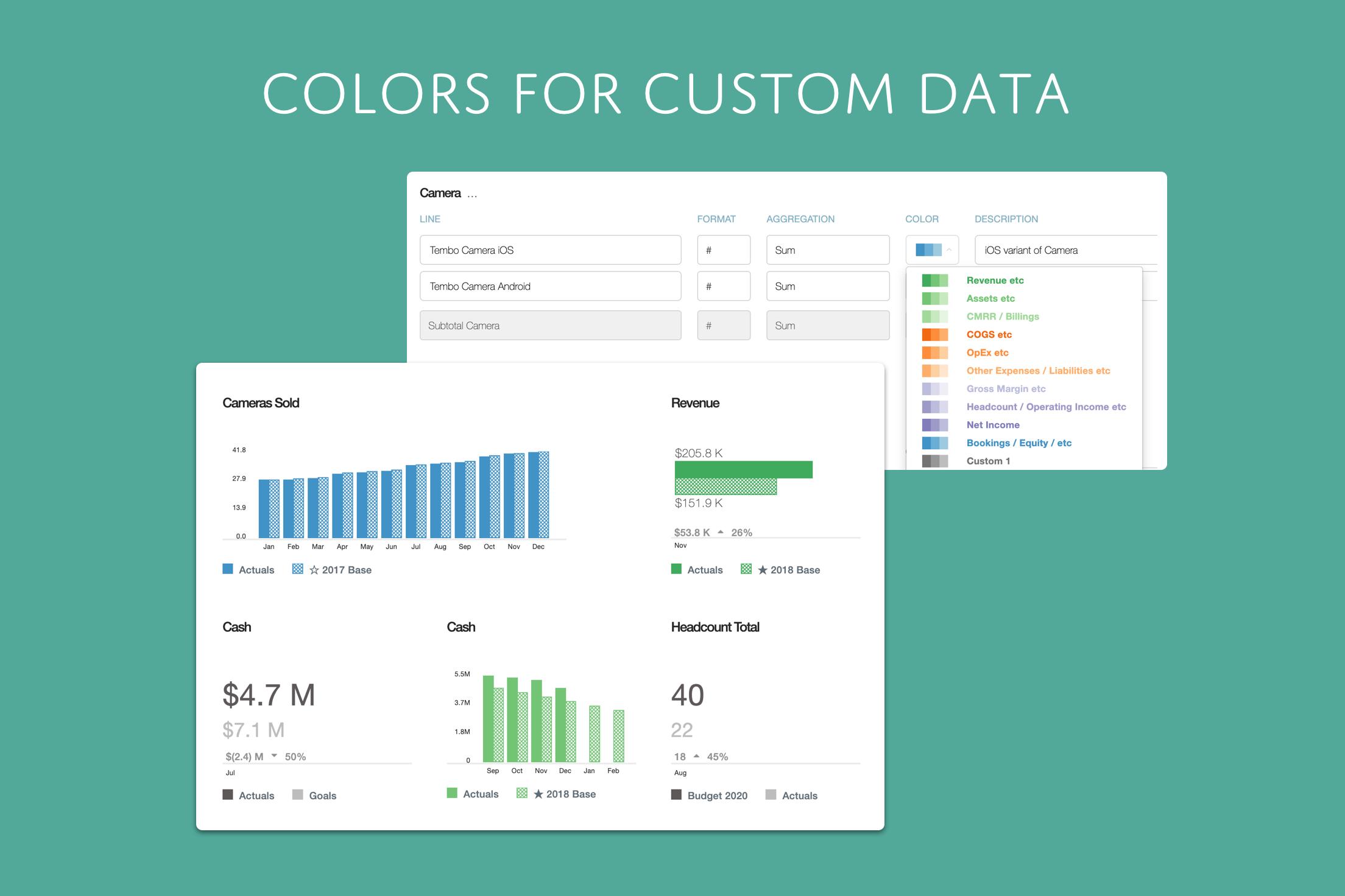 Colors for Custom Data