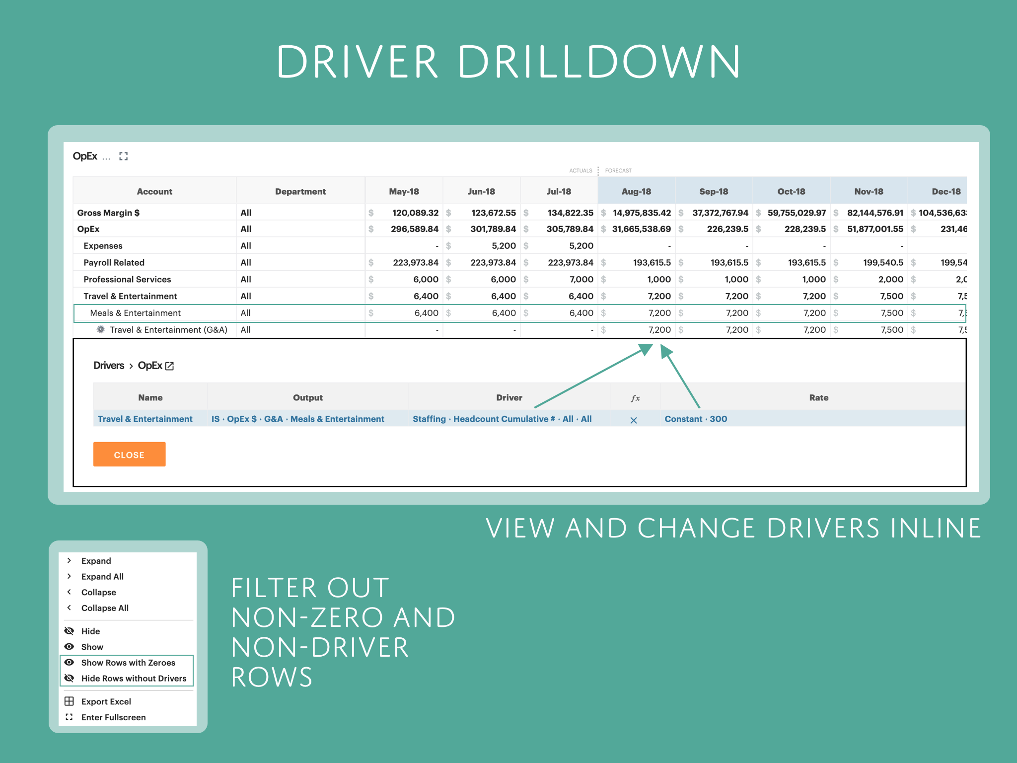 Drivers Drilldown