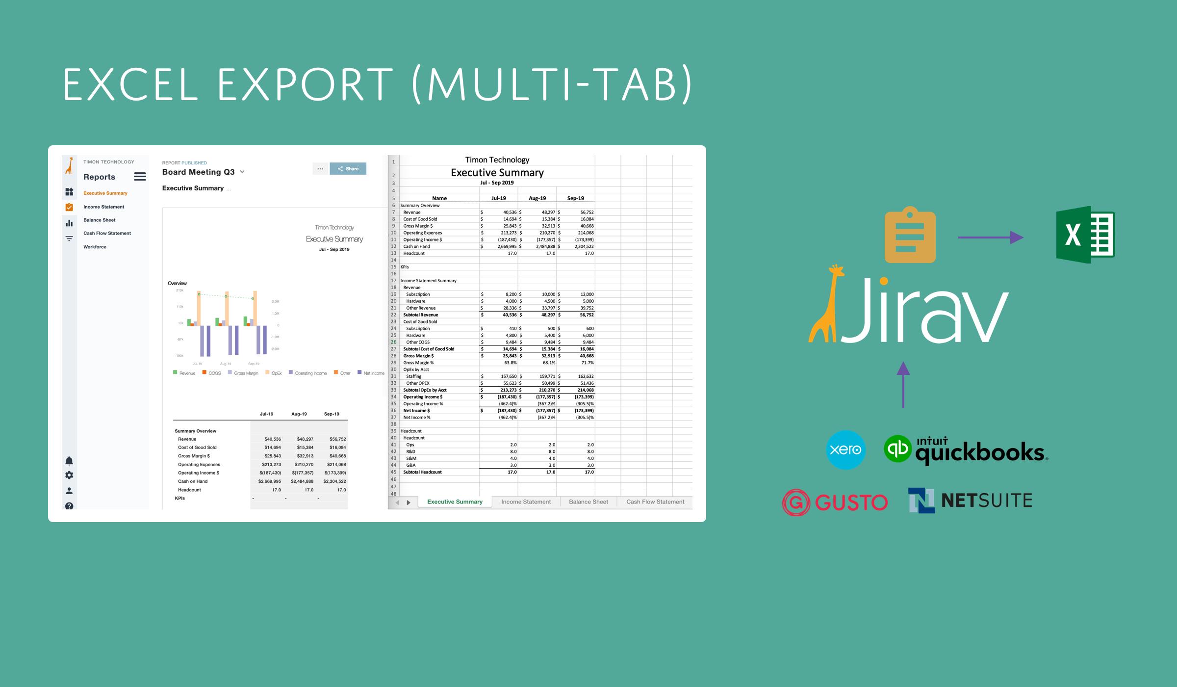 Excel Export Multi-tab