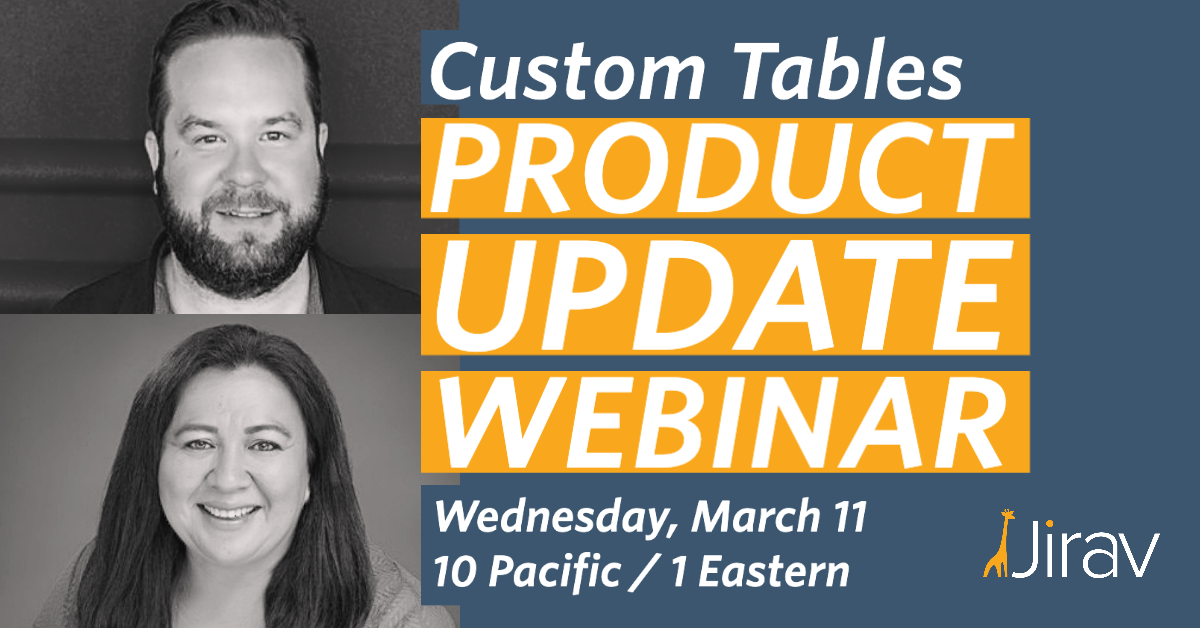 Join our Product Update Webinar on Wednesday, March 11 at 10 am Pacific / 1 pm Eastern