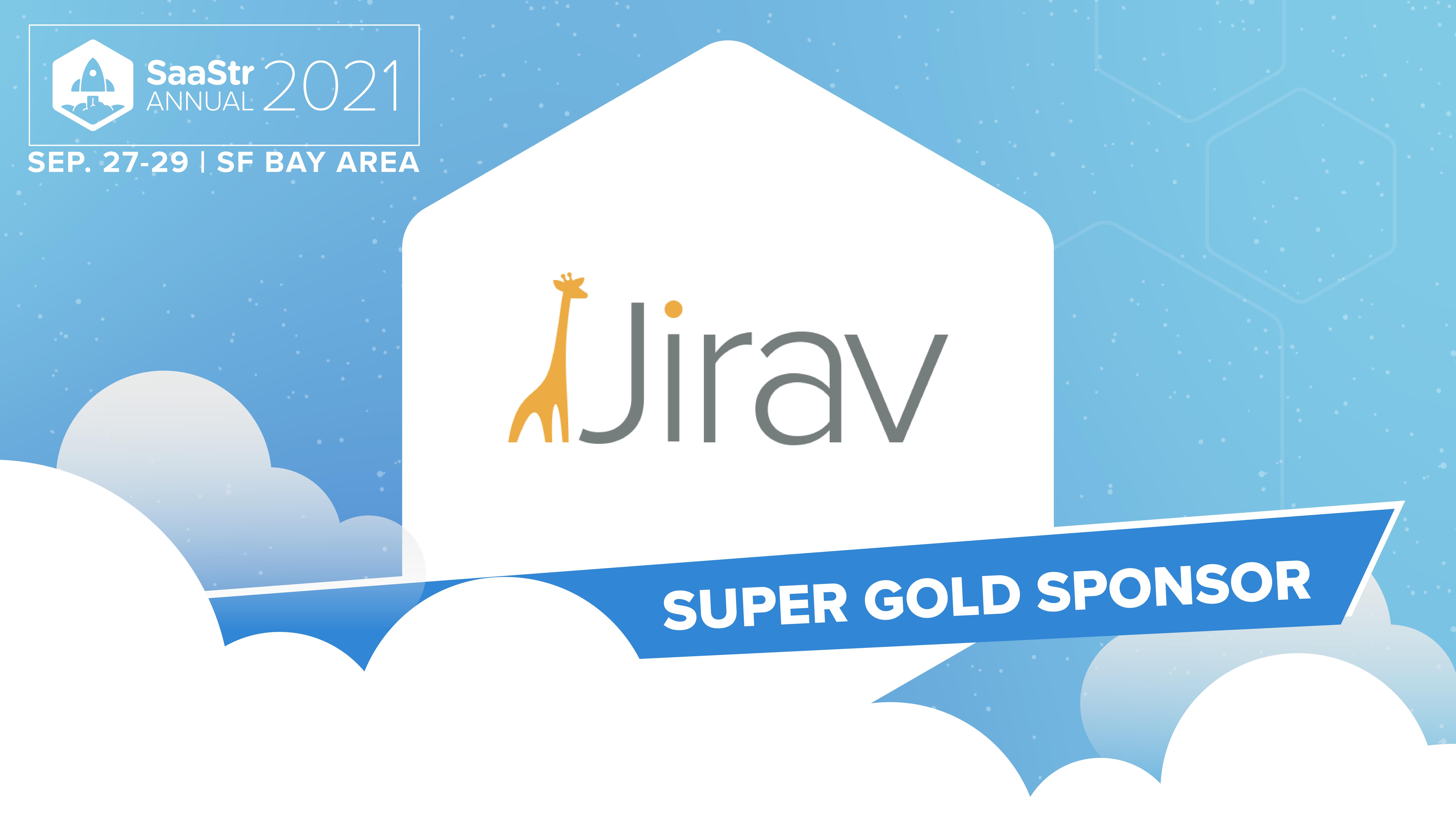Jirav is headed to SaaStr Annual 2021!